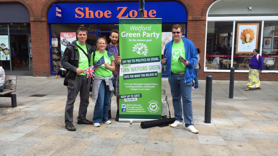Watford Greens Campaigning to Remain in the EU