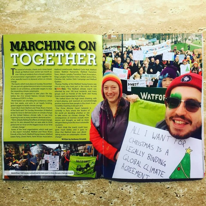 My Watford News Climate March Article